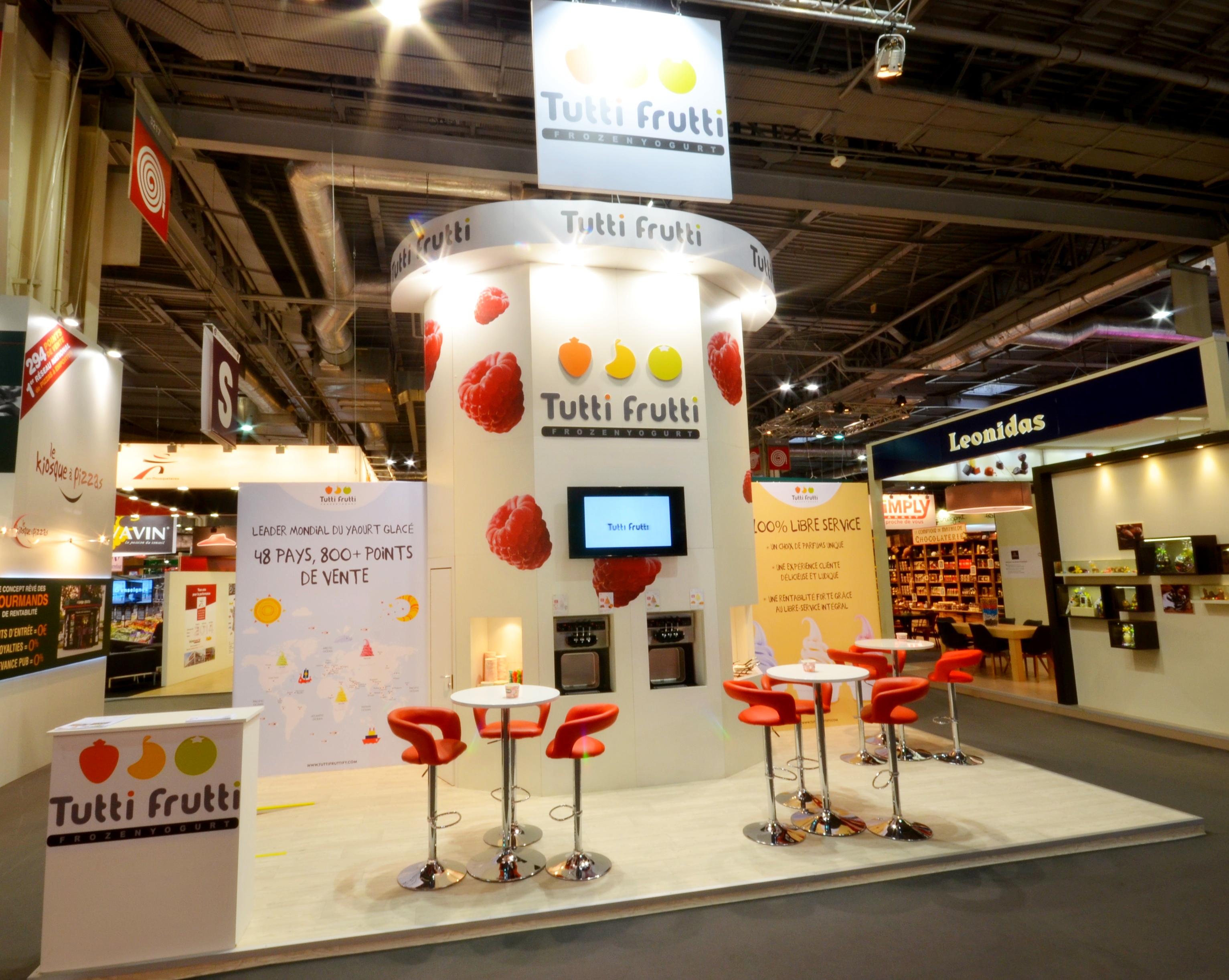 Stand Tutti Frutti by aveca salon Franchise Expo