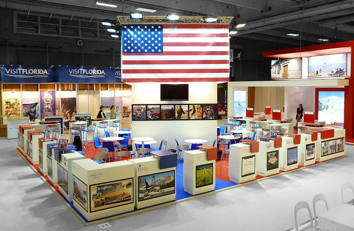 Stand USA by aveca salon Top Resa