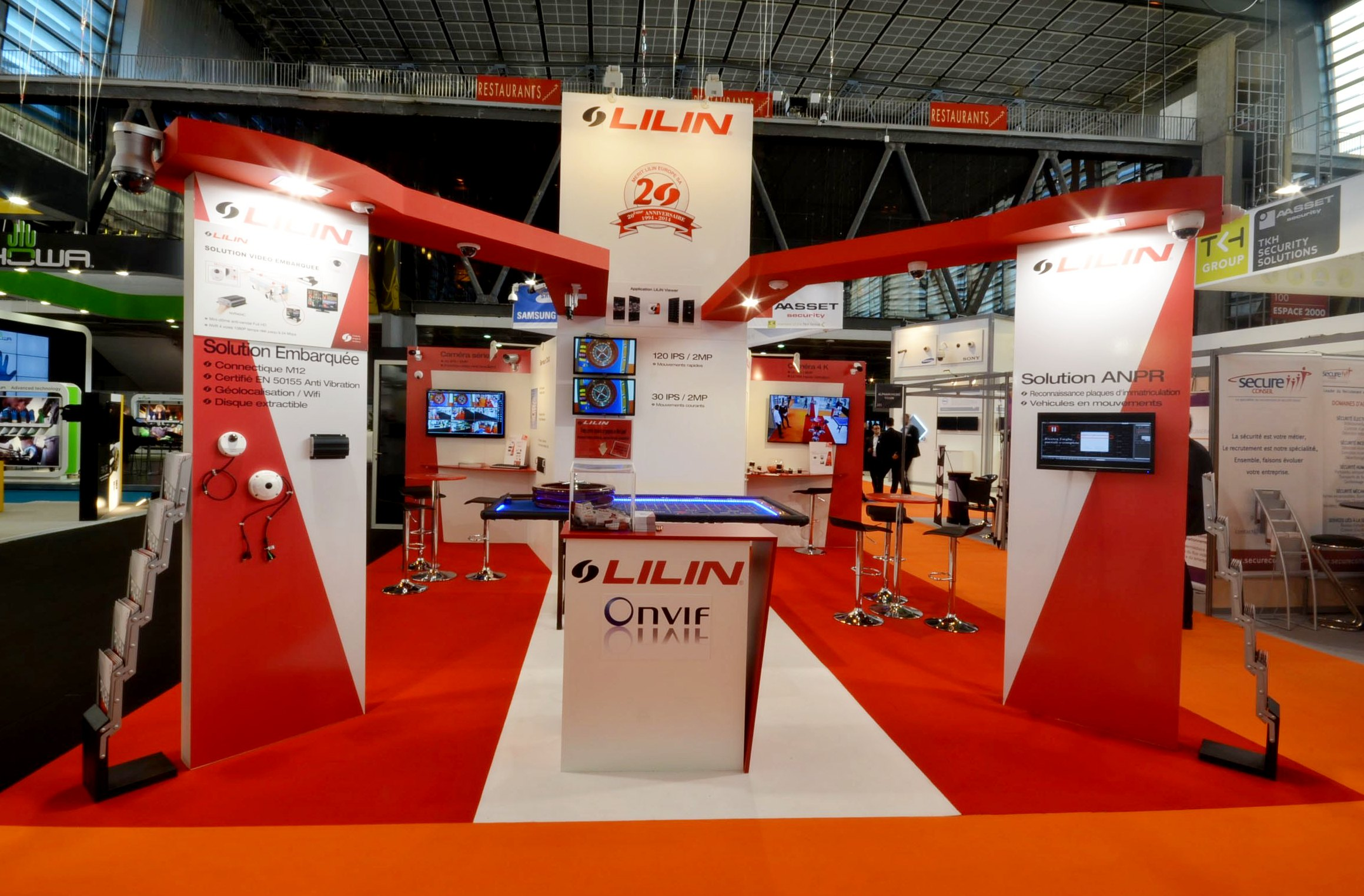 Stand Lilin by aveca salon Expo Protection