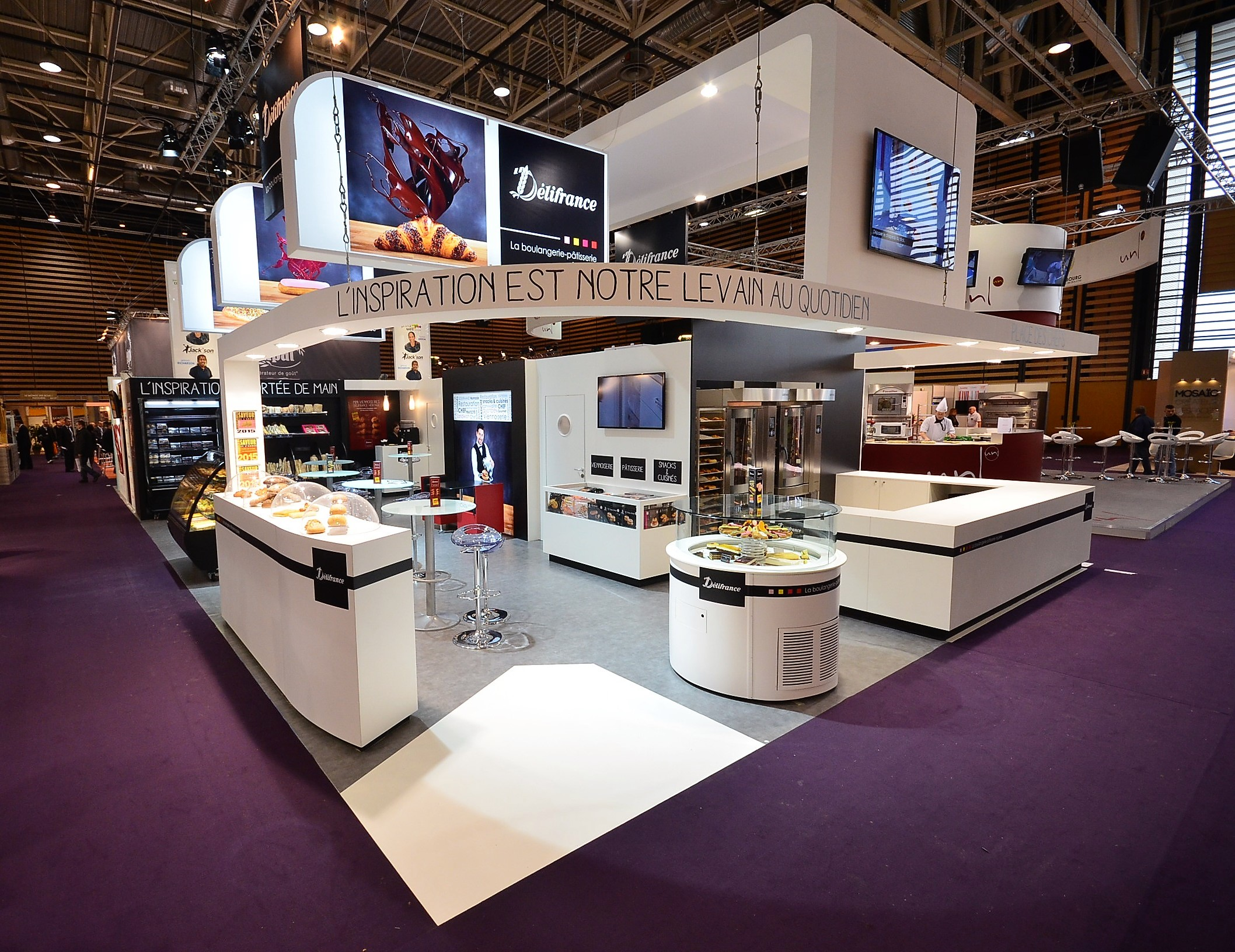 Stand Delifrance by aveca salon Sirha